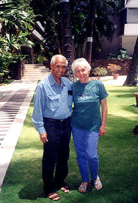 Eddie Kamae with his wife Myrna, 2001